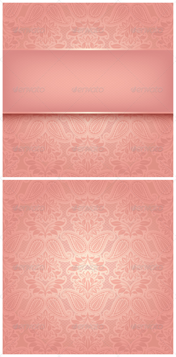 Decorative Pink Template - Backgrounds Decorative