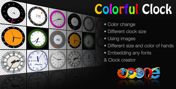 Colorful Clock - CodeCanyon Item for Sale