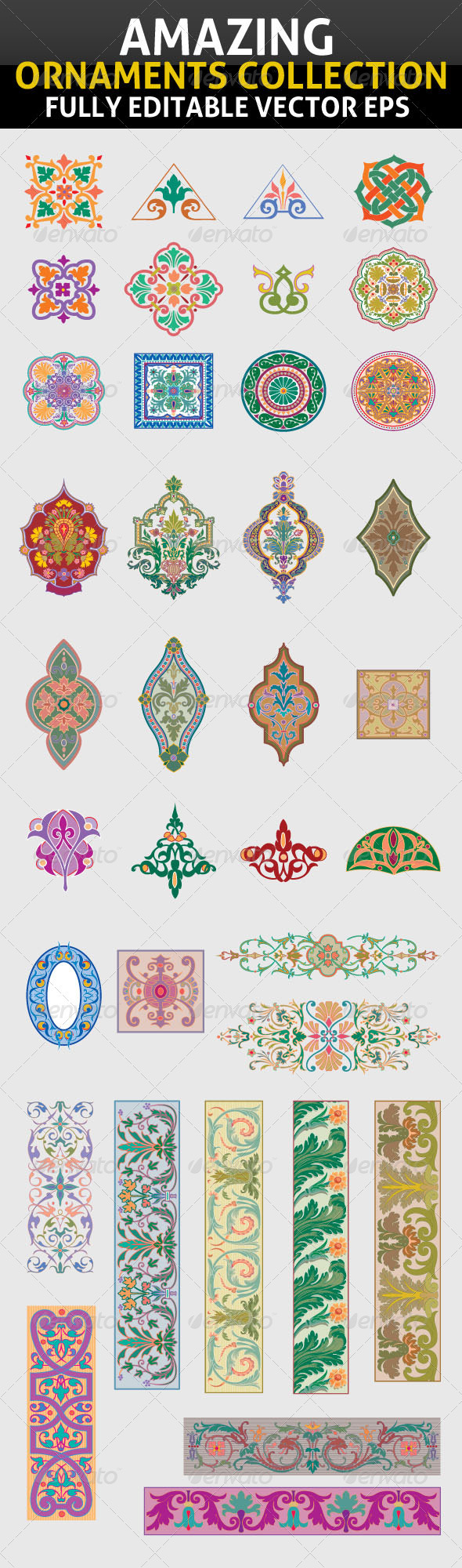 Amazing Ornaments Collection - Flourishes / Swirls Decorative