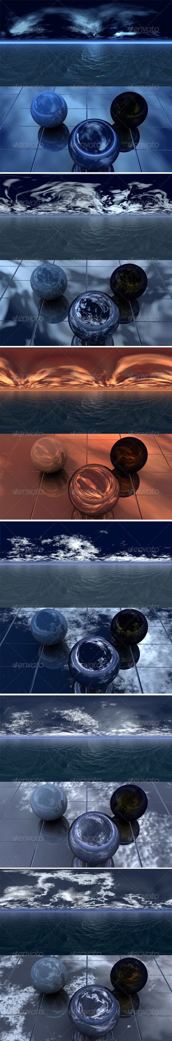 Night Sea - pack - 3DOcean Item for Sale