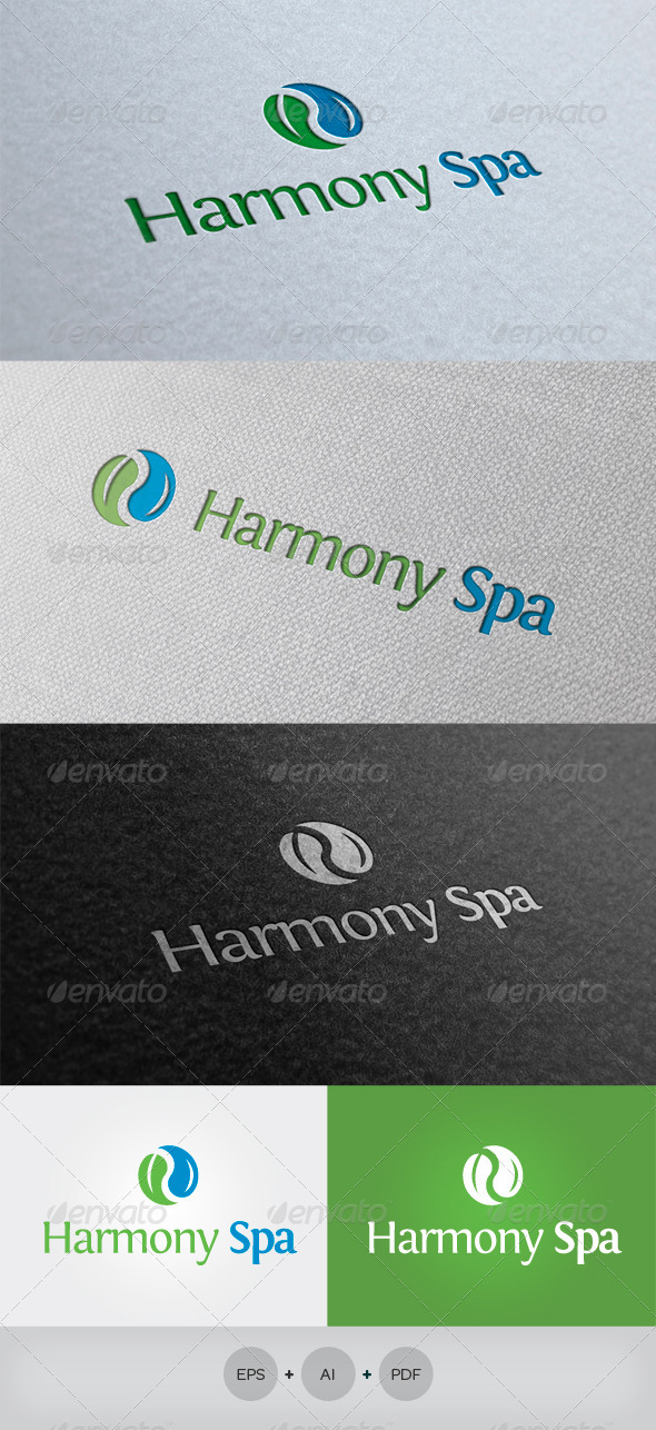 Harmony Spa Logo - Nature Logo Templates