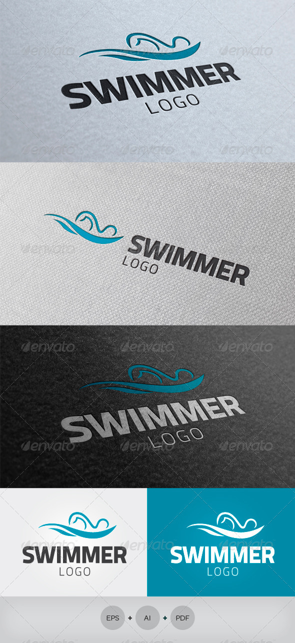 Swimmer Logo - Humans Logo Templates