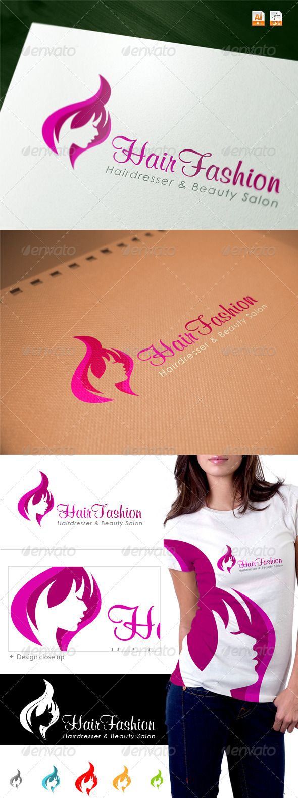 Hair Fashion - Spa & Salon Logo - Humans Logo Templates