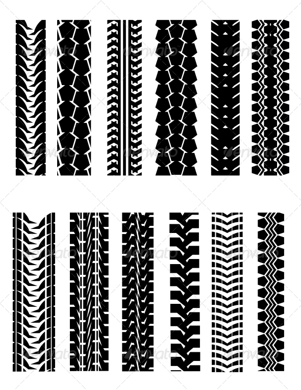 Set of Tire Shapes - Decorative Vectors