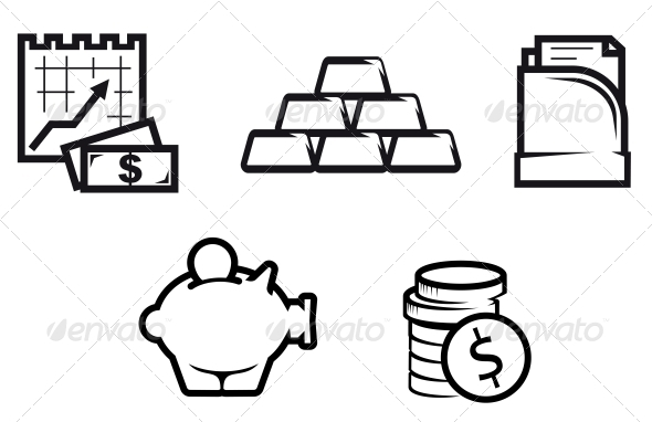Finance and Economics Symbols - Concepts Business