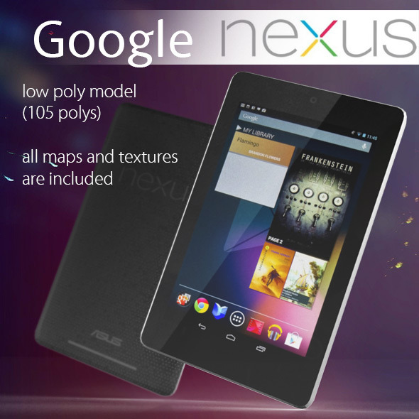 Google Nexus 7 Low Poly - 3DOcean Item for Sale