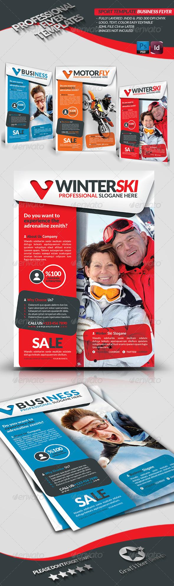 Sport Template Business Flyer - Corporate Flyers