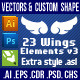23 Wings Element v3 - GraphicRiver Item for Sale