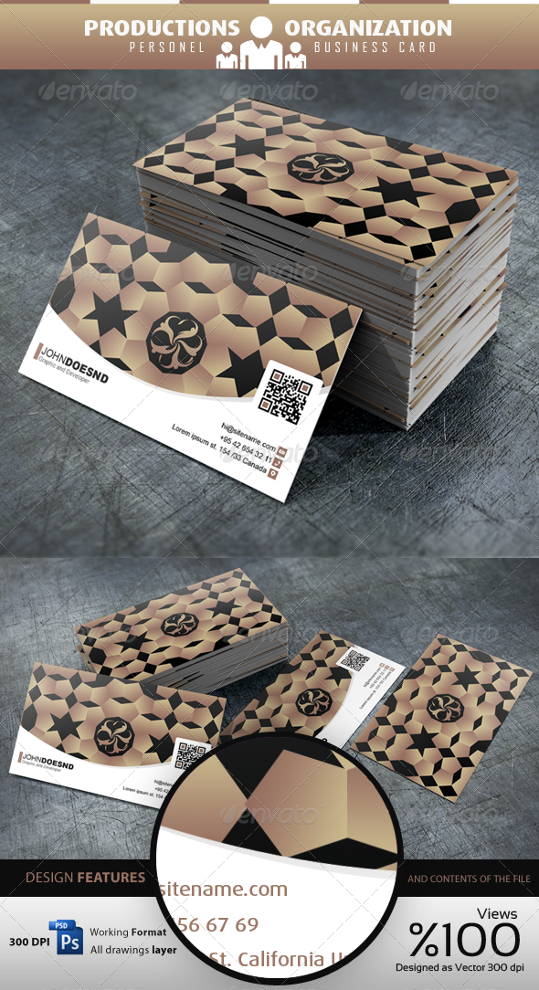 Productions Organization Personel - Business Card - Business Cards Print Templates