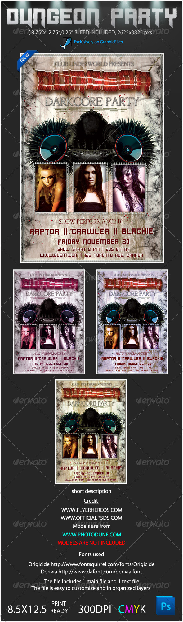 Darkcore Party Poster Flyer - Clubs & Parties Events