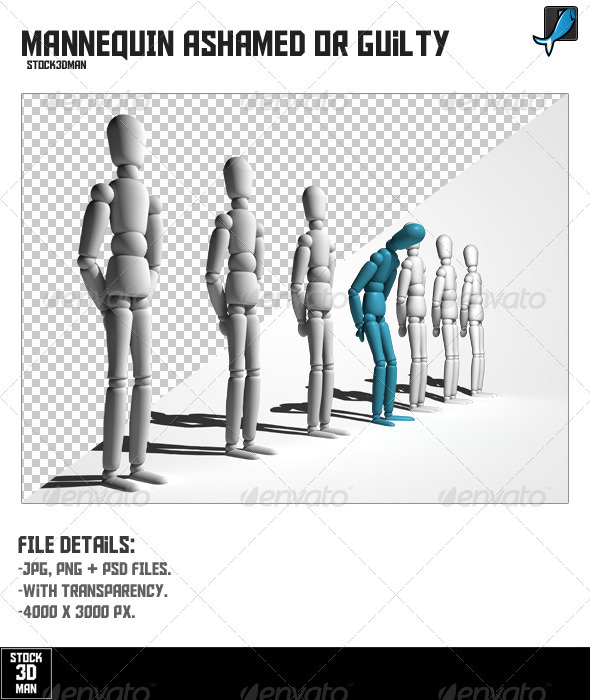 Mannequin Ashamed or Guilty - Characters 3D Renders