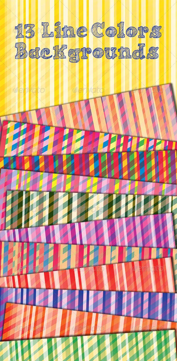 Line Color Backgrounds  - Patterns Backgrounds