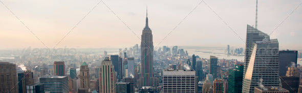 View of New York City from Rockefeller Center, New York, USA - Stock Photo - Images