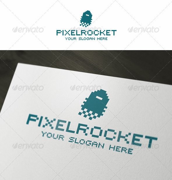 Pixel Rocket Logo - Objects Logo Templates