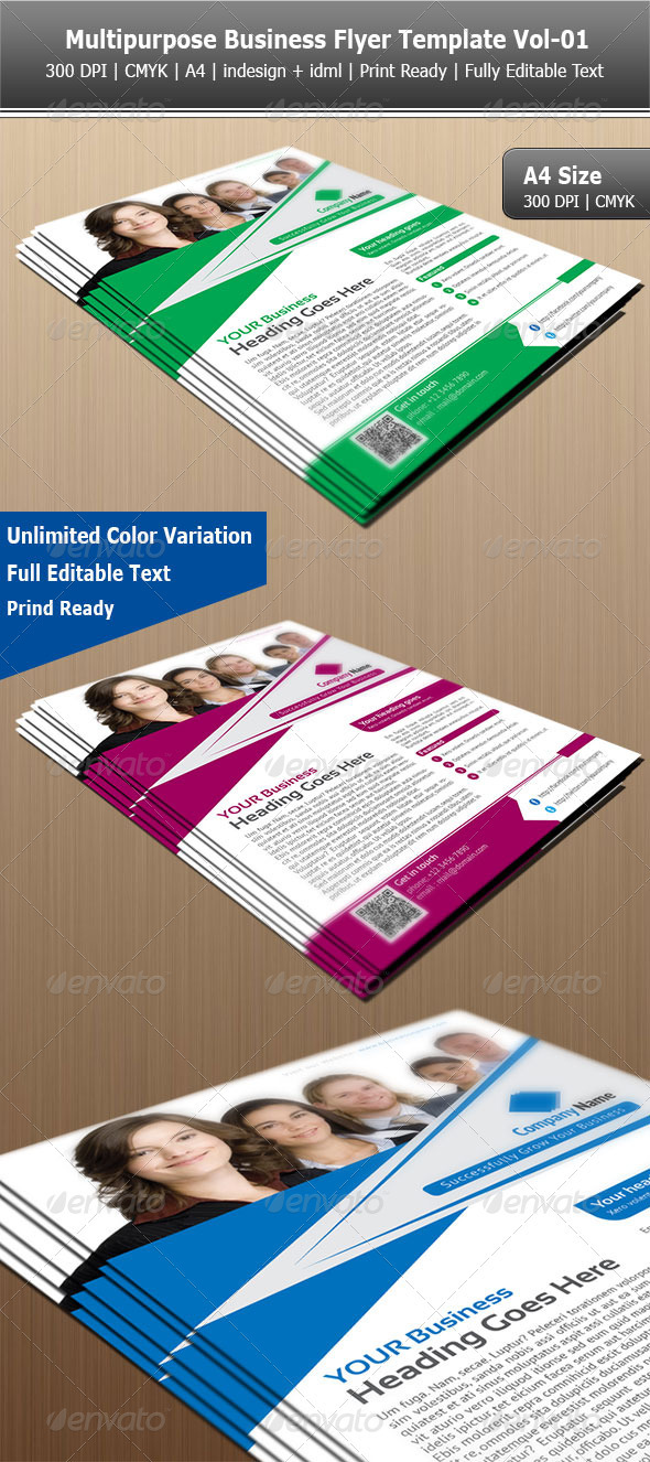 Multipurpose Business Flyer Template Vol-01 - Corporate Flyers
