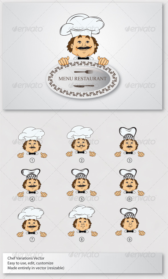 Chef Mascot Vector - People Characters