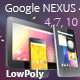 All Google Nexus Devices Pack Low Poly - 3DOcean Item for Sale