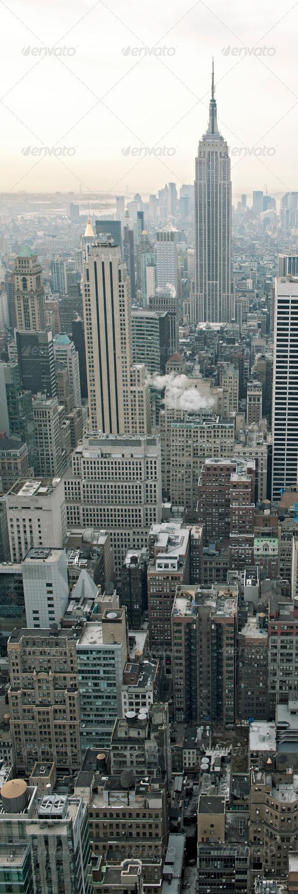 New York City skyline view from Rockefeller Center, New York, USA - Stock Photo - Images