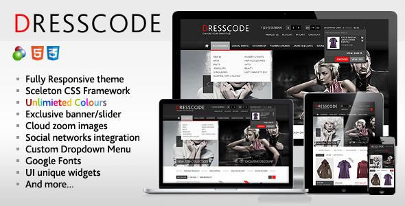 Dresscode – Responsive  osCommerce Theme