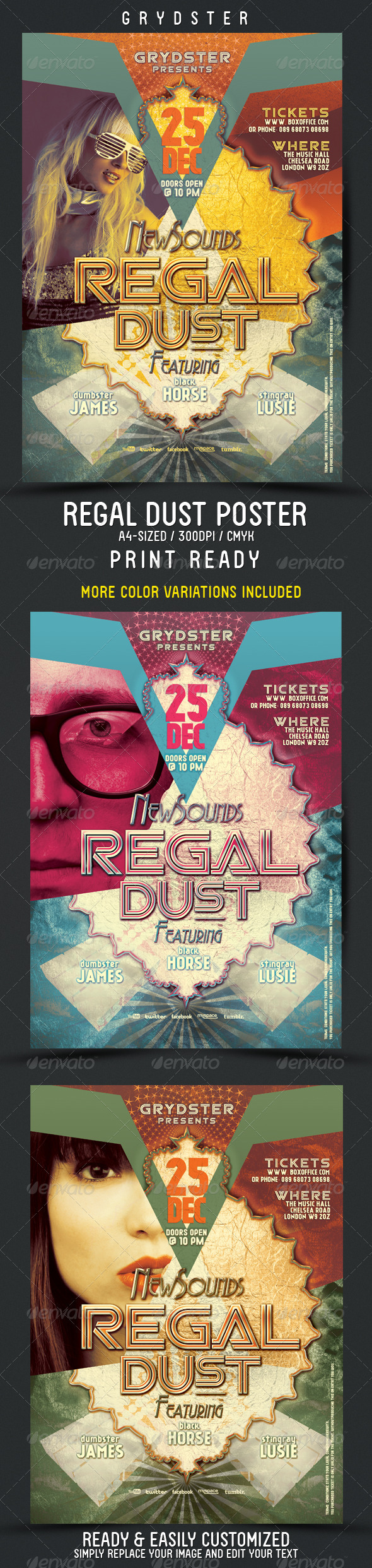 Regal Dust Flyer - Poster - Clubs & Parties Events