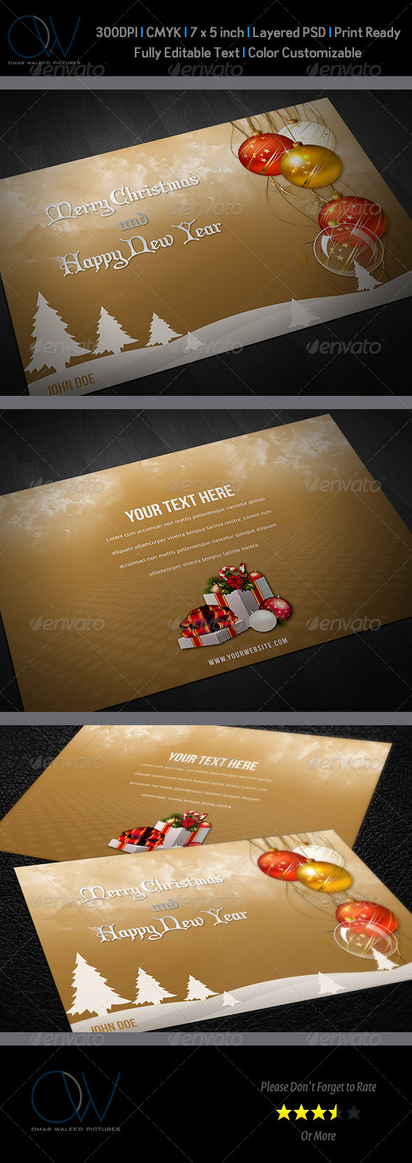 Christmas and New Year Greeting Card Vol.2 - Greeting Cards Cards & Invites