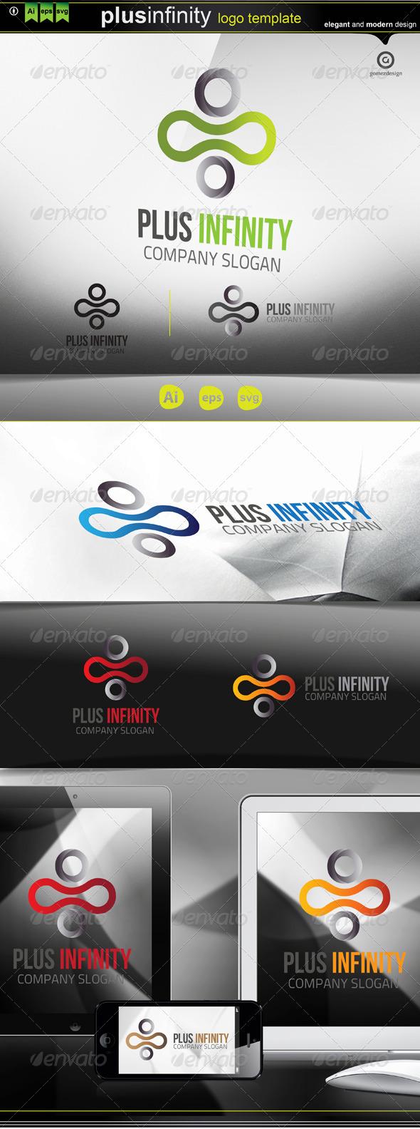 Plus Infinity Logo - Symbols Logo Templates