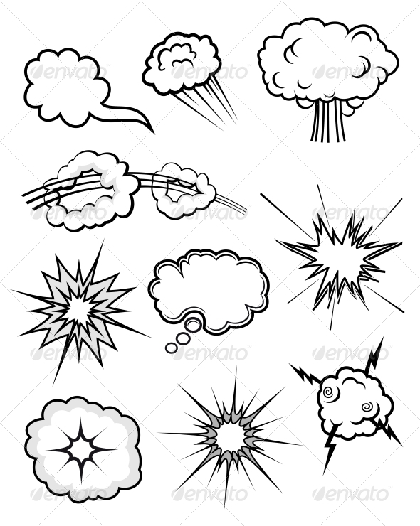Explosions Set - Decorative Symbols Decorative