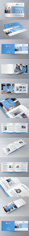 Multipurpose A5 Business Brochure/Catalogue Templa - Brochures Print Templates