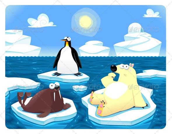 Polar Scene - Animals Characters