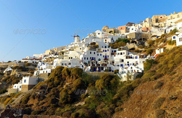 Lovely Oia village - Stock Photo - Images
