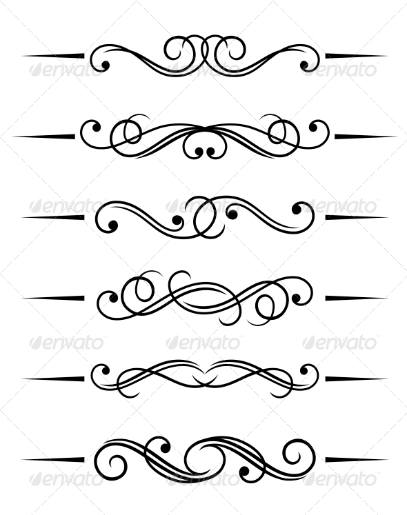 Swirl Elements - Borders Decorative