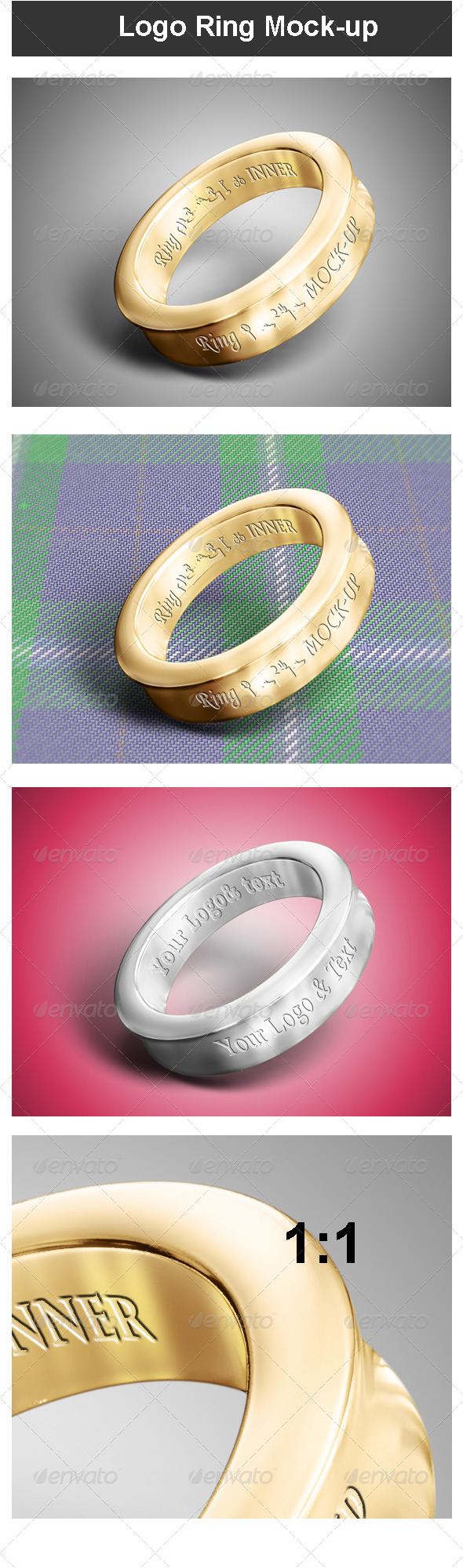 Logo Ring Mock-up - Logo Product Mock-Ups