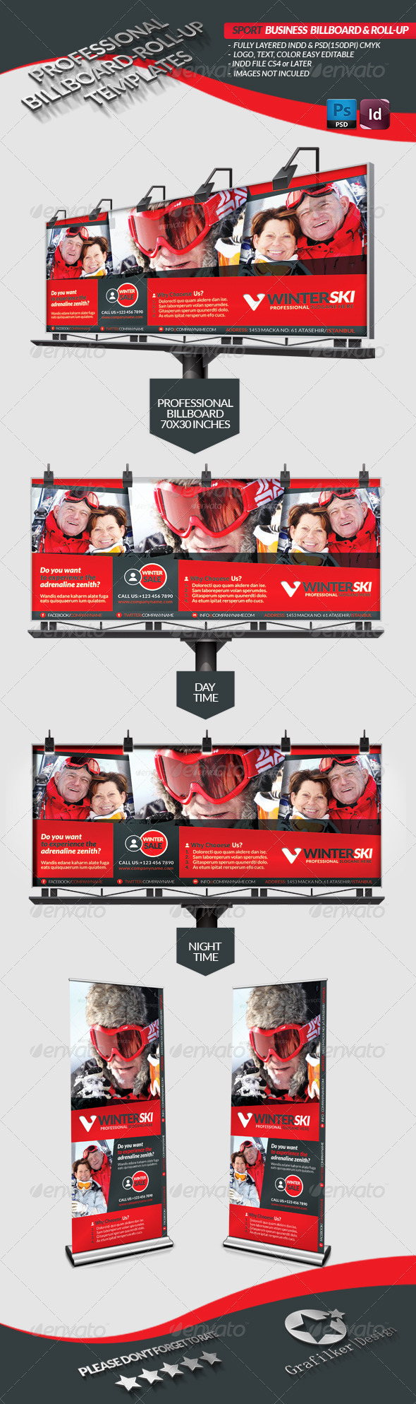 Sport Business Billboard - Roll-Up - Signage Print Templates