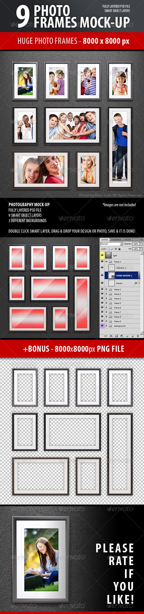 Photo Frames Mock-up - Photo Templates Graphics
