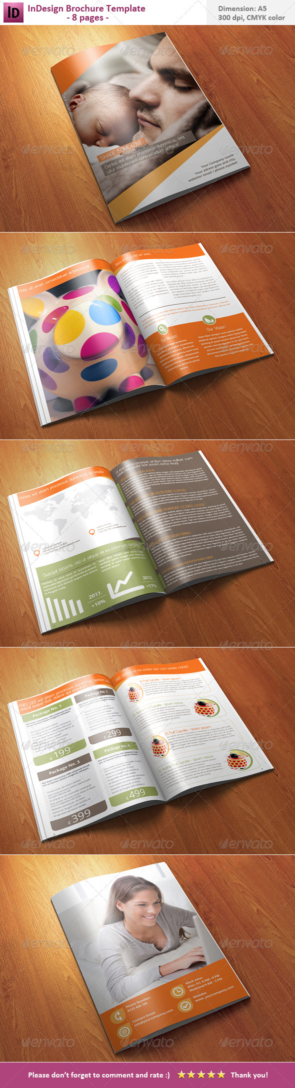 InDesign Brochure Template - 8 pages  - Corporate Brochures