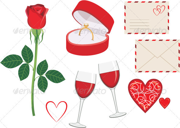 Valentine Day Icon Set - Valentines Seasons/Holidays