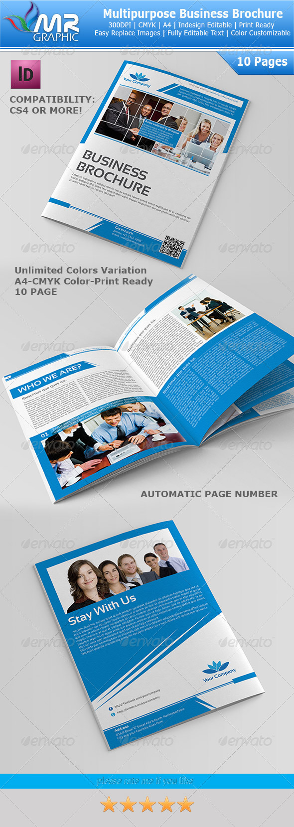 10 Page Multipurpose Business Brochure - Corporate Brochures