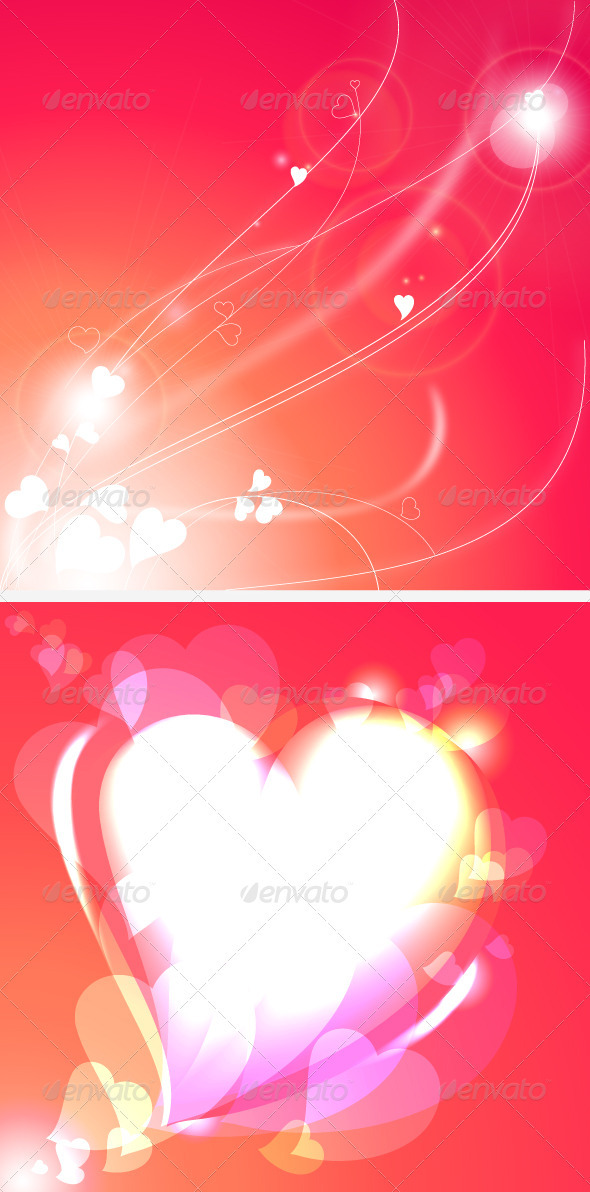 Background with Abstract Hearts - Valentines Seasons/Holidays