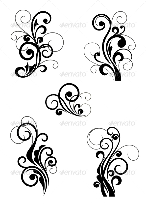 Floral Patterns - Flourishes / Swirls Decorative