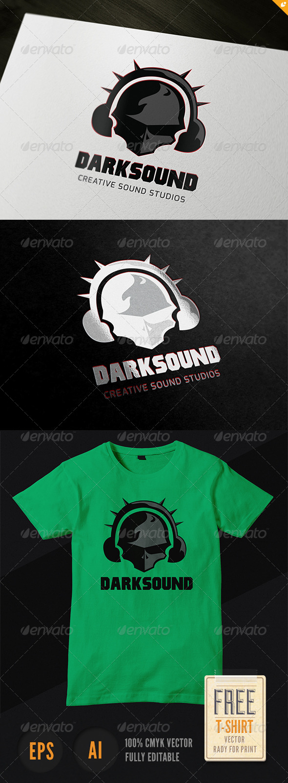 Dark Sound Logo - Humans Logo Templates