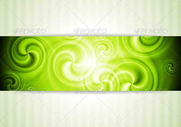 Shiny Business Template with Swirl Elements - Backgrounds Decorative