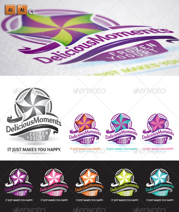 Delicious – Frozen Yogurt Logo - Abstract Logo Templates