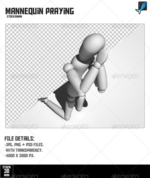 Mannequin Praying - Characters 3D Renders