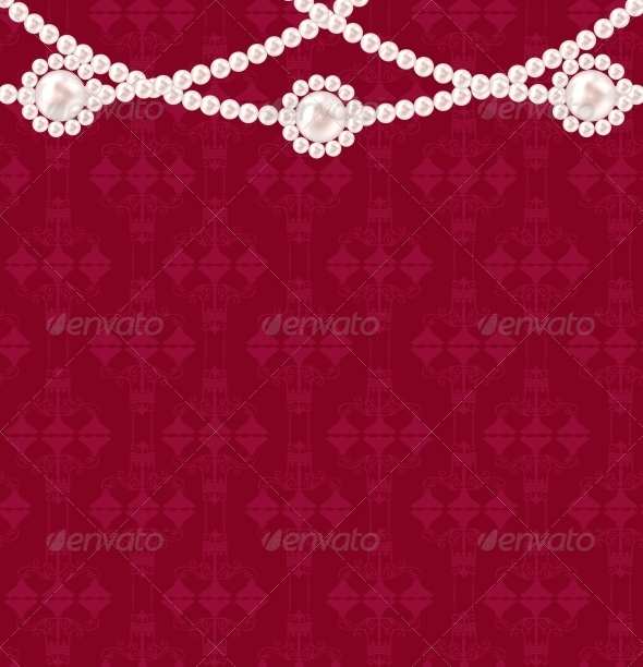 Beauty Pearl Background Vector Illustration - Backgrounds Decorative
