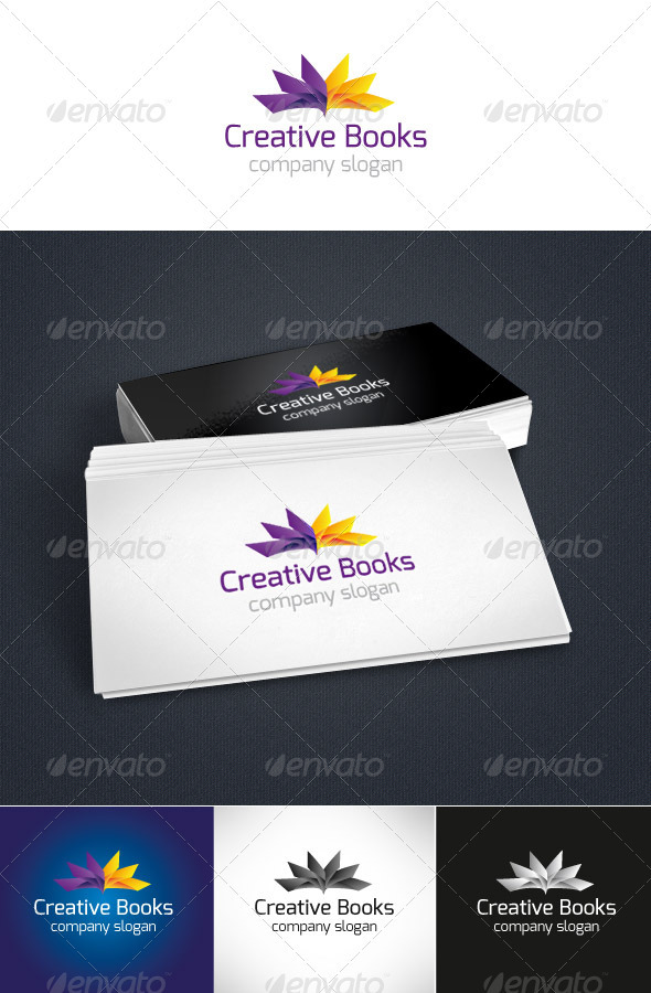 Creative Books Logo - Objects Logo Templates
