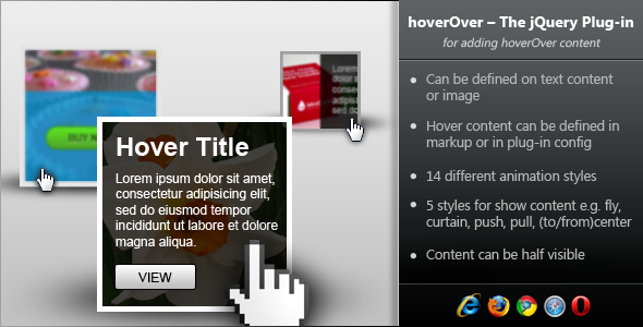 hoverOver - jQuery Plugin for Adding Hover Content - CodeCanyon Item for Sale