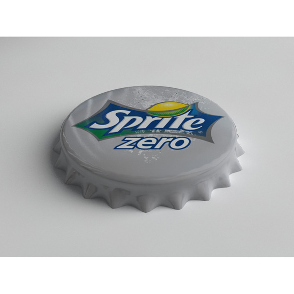 Sprite Zero Bottle Tin Cap - 3DOcean Item for Sale