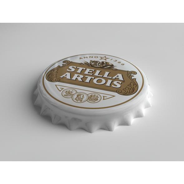 Stella Artois Bottle Tin Cap - 3DOcean Item for Sale