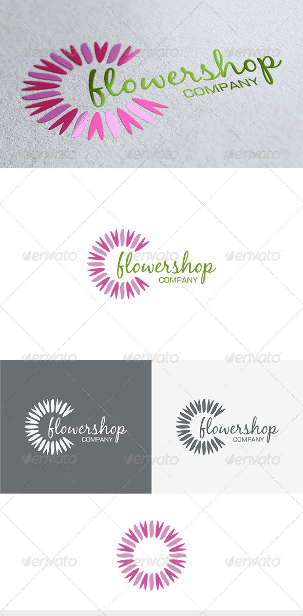 Flower Shop Logo - Nature Logo Templates