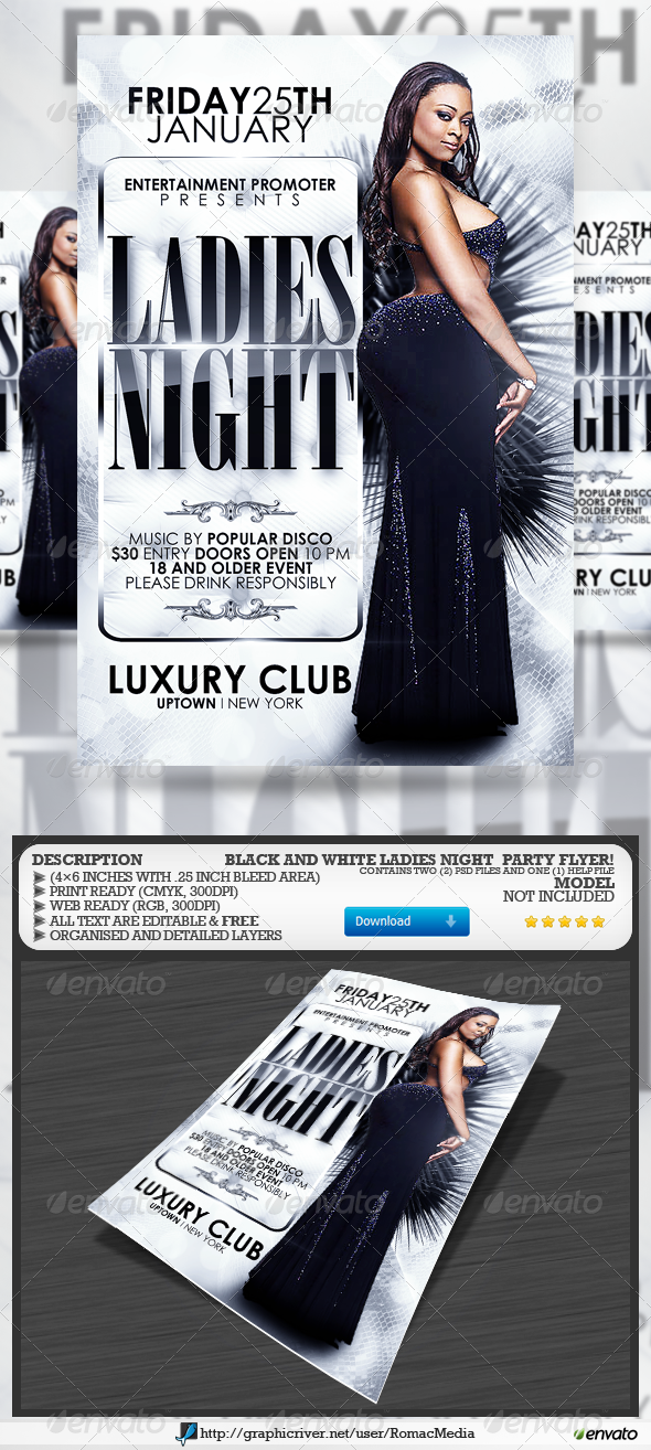 Black and White Ladies Night Party - Clubs & Parties Events